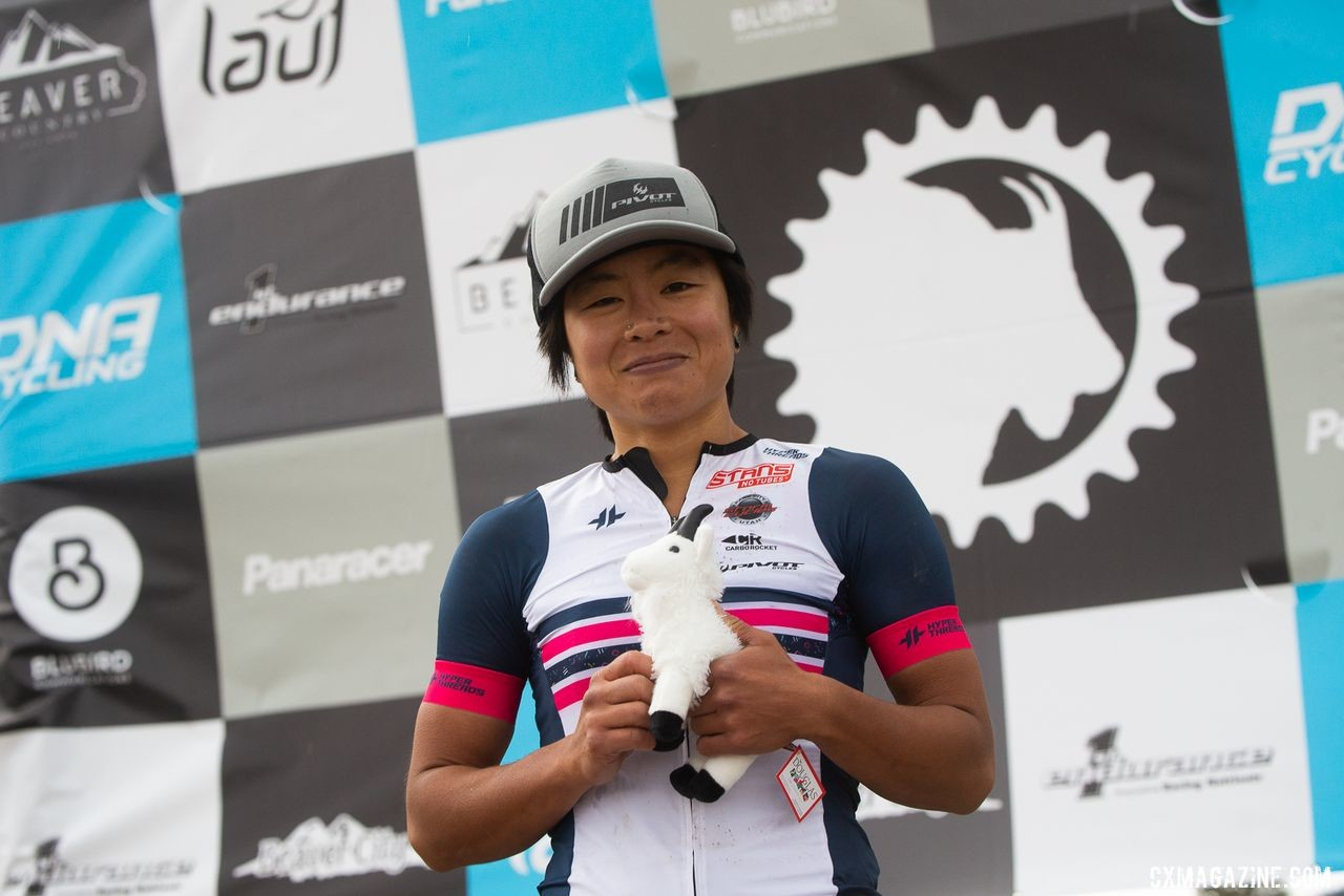Evelyn Dong is the 2019 Crusher Queen. 2019 Crusher in the Tushar Gravel Race. © Cathy Fegan-Kim / Cottonsox Photo