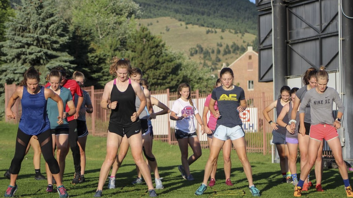 Campers did a variety of agility drills using the speed ladders. 2019 Women's MontanaCrossCamp, Thursday. © Z. Schuster / Cyclocross Magazine