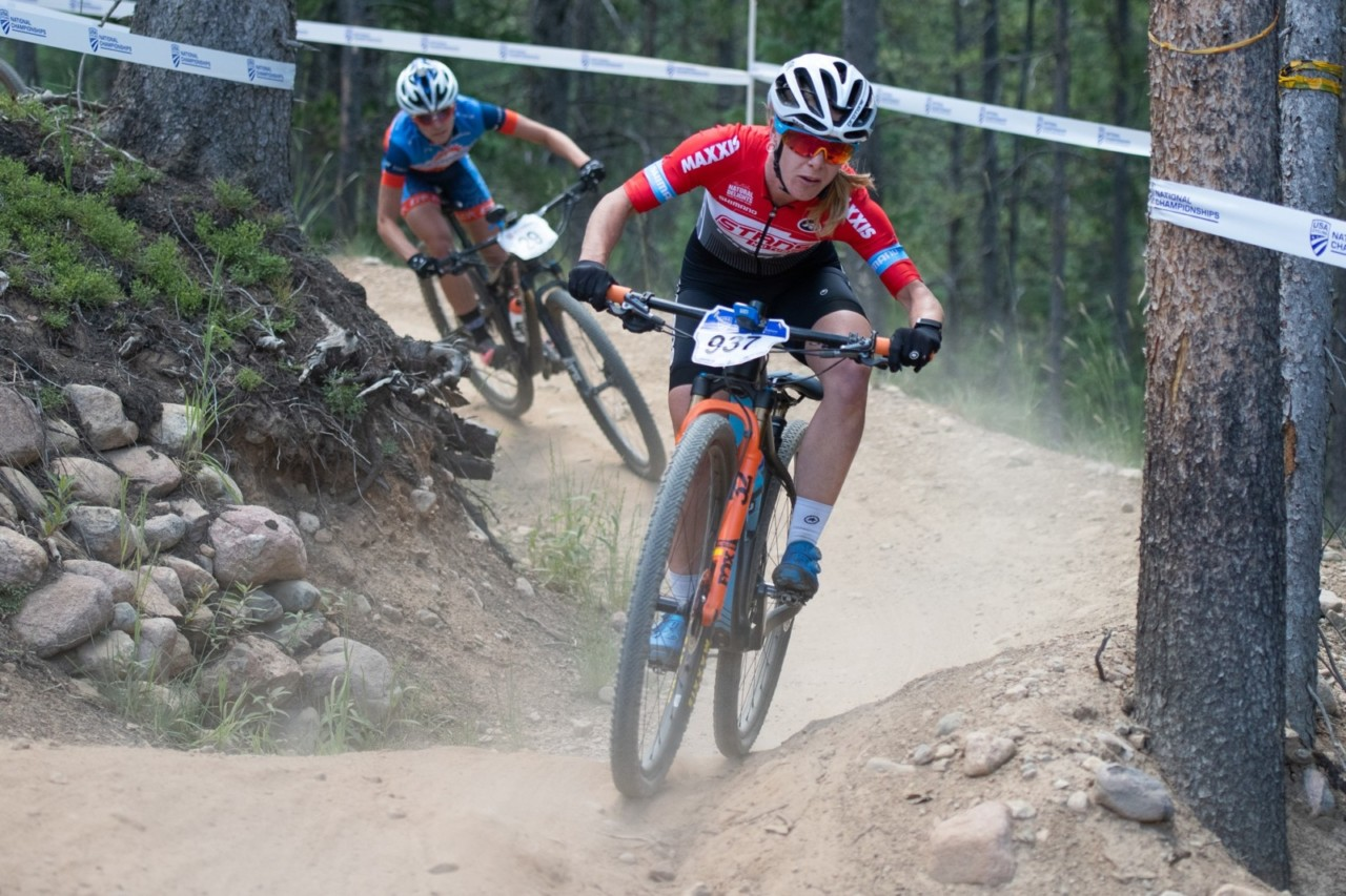 Chloe Woodruff doubled up at the 2019 MTB Nationals win a Short Track win.  © Dejan Smaic / Sportifimages