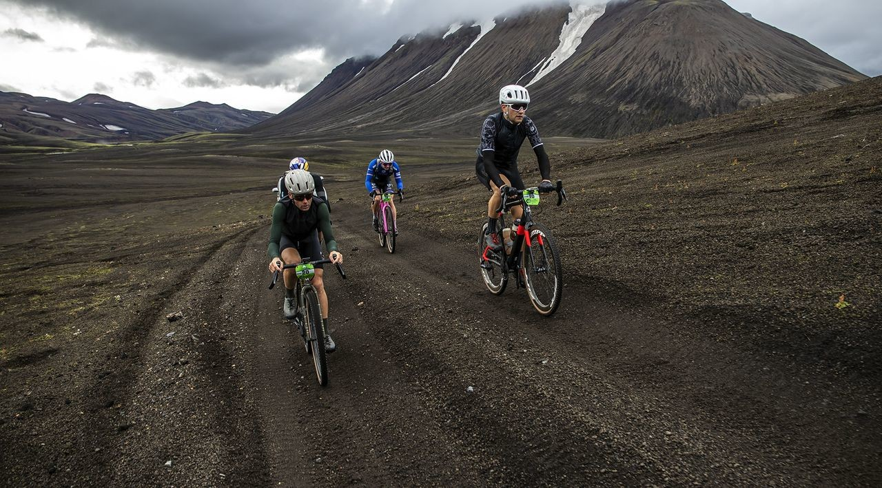 The Rift featured a challenging route that went around an active volcano. © Snorri Thor