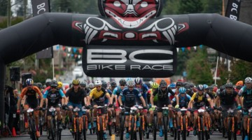 The start of another day of BC Bike Race racing. © Margus Riga / BC Bike Race
