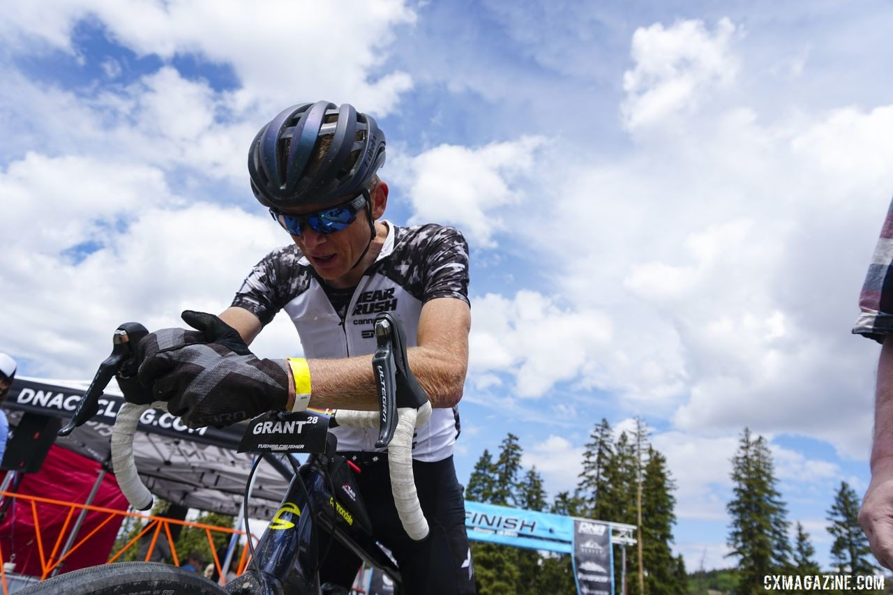 Alex Grant was exhausted but happy at the end of the 2019 Crusher. 2019 Crusher in the Tushar. © Hyperthreads