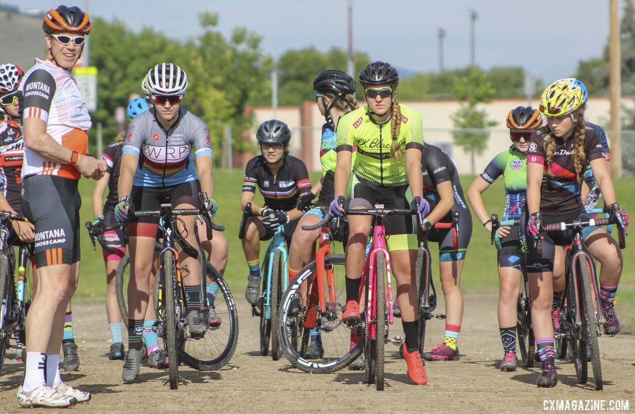 The 2019 Women's MontanaCrossCamp is taking place this week in Helena. Four sets of stadium stairs help get the blood flowing early in the morning. 2019 Women's MontanaCrossCamp, Wednesday AM. © Z. Schuster / Cyclocross Magazine