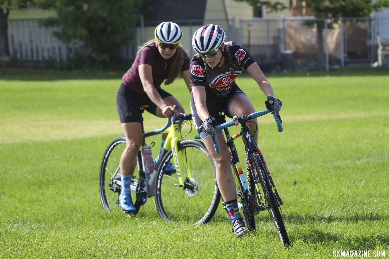 Park Ave. Bike has a strong mentorship program, and at camp, Grace Mattern got to learn from Rebecca Fahringer. 2019 Women's MontanaCrossCamp. © Z. Schuster / Cyclocross Magazine
