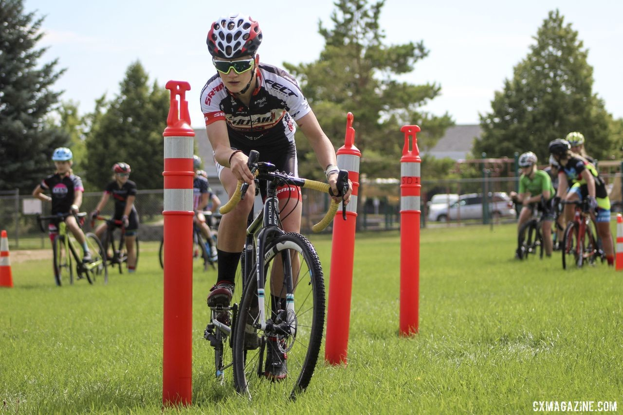 Cassie Hickey is hoping her hard work will take her to Europe this coming cyclocross season. 2019 Women's MontanaCrossCamp. © Z. Schuster / Cyclocross Magazine