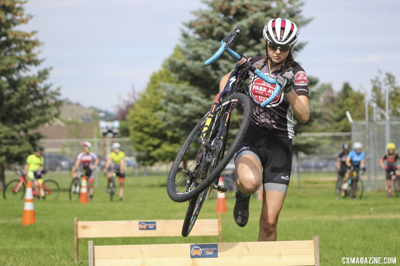 Grace Mattern learned important skills and a love of cyclocross as a young Junior. 2019 Women's MontanaCrossCamp. © Z. Schuster / Cyclocross Magazine