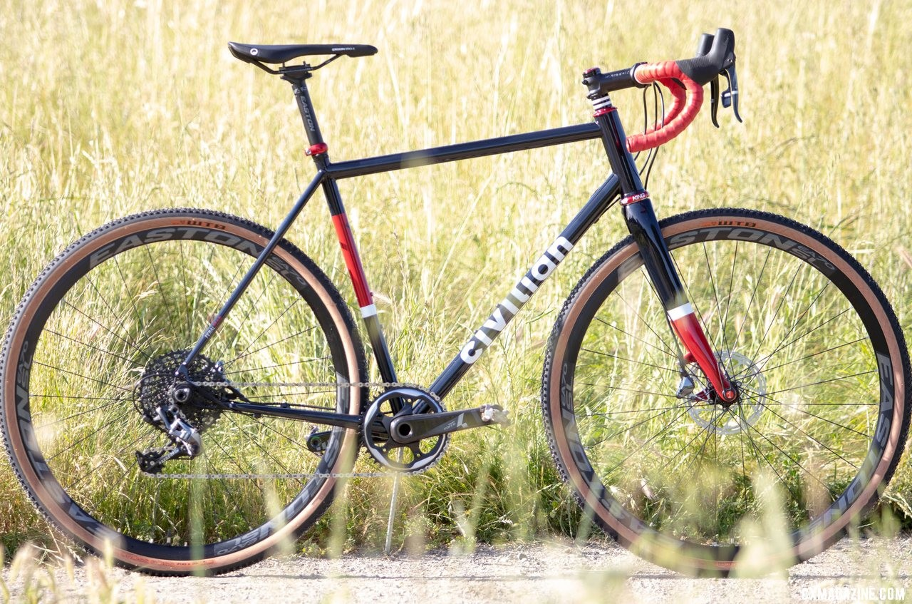 The handmade steel Civilian Feral Tsar cyclocross bike can get you ready for the season. © A. Yee / Cyclocross Magazine