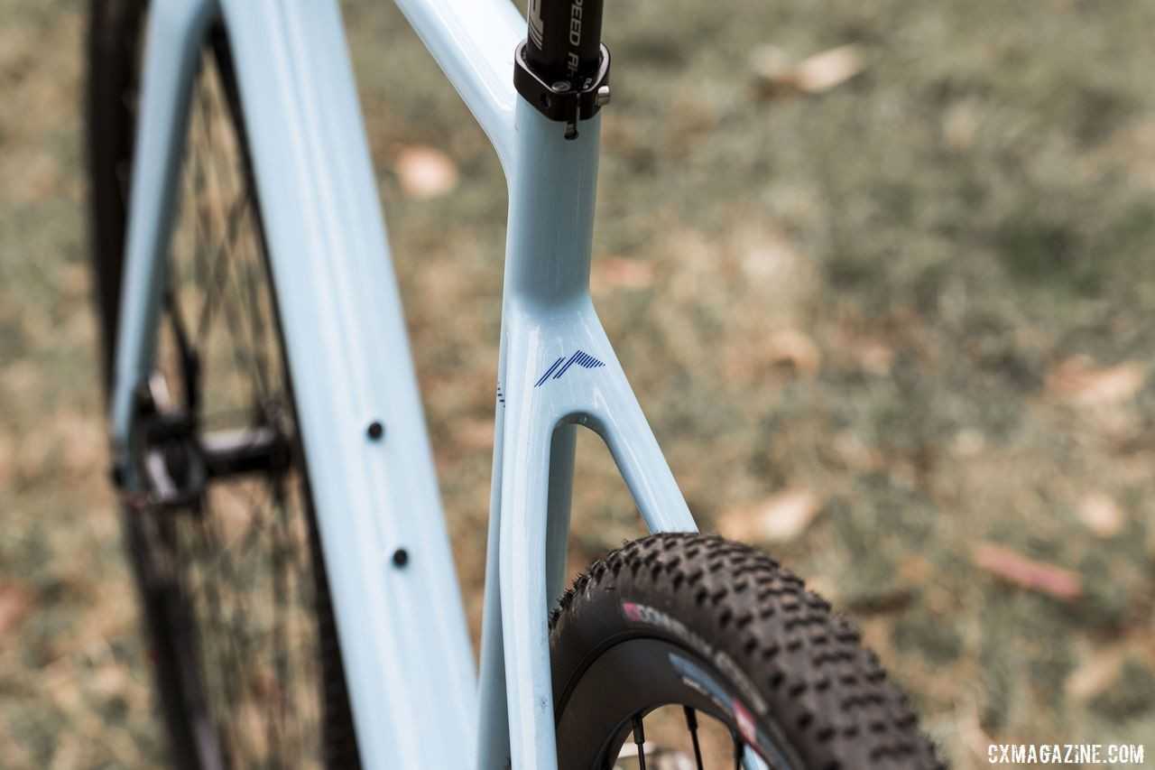 The seatstays are bridgeless to help with mud clearance. Donnelly C//C Force Cyclocross Bike. © C. Lee / Cyclocross Magazine