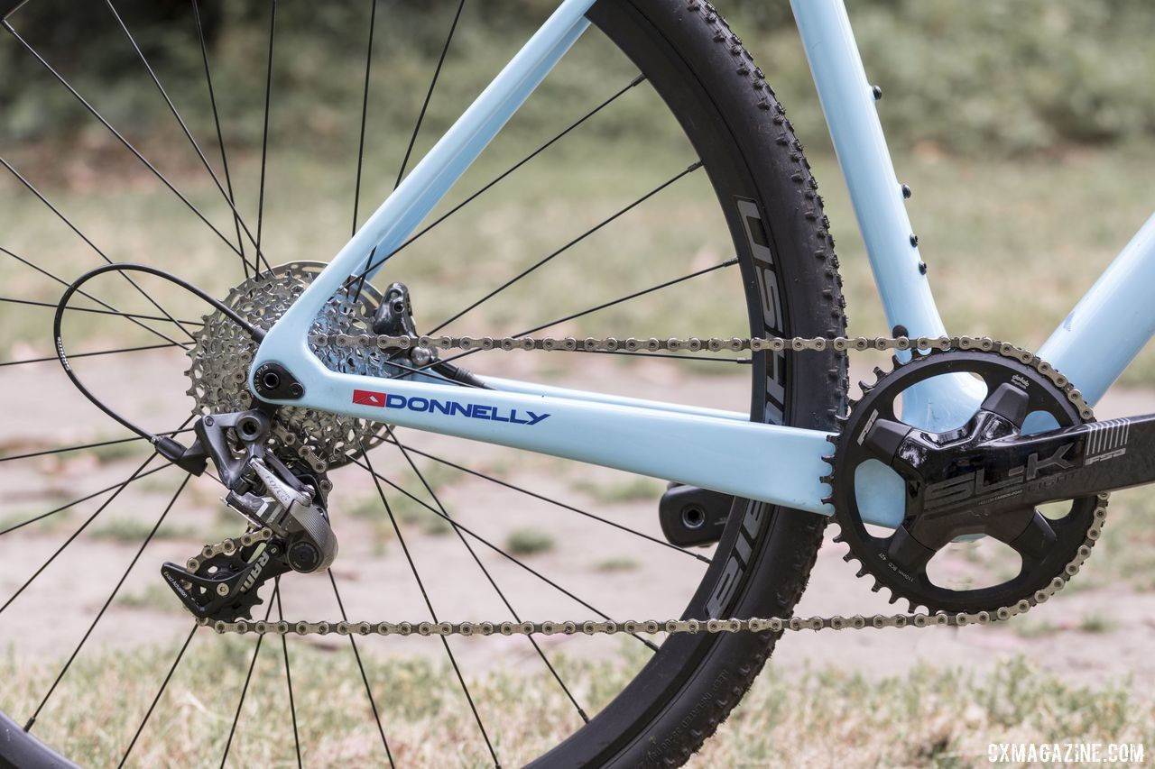 The C//C Force build has a SRAM Force 1 rear derailleur for 1x cyclocross racing. Donnelly C//C Force Cyclocross Bike. © C. Lee / Cyclocross Magazine