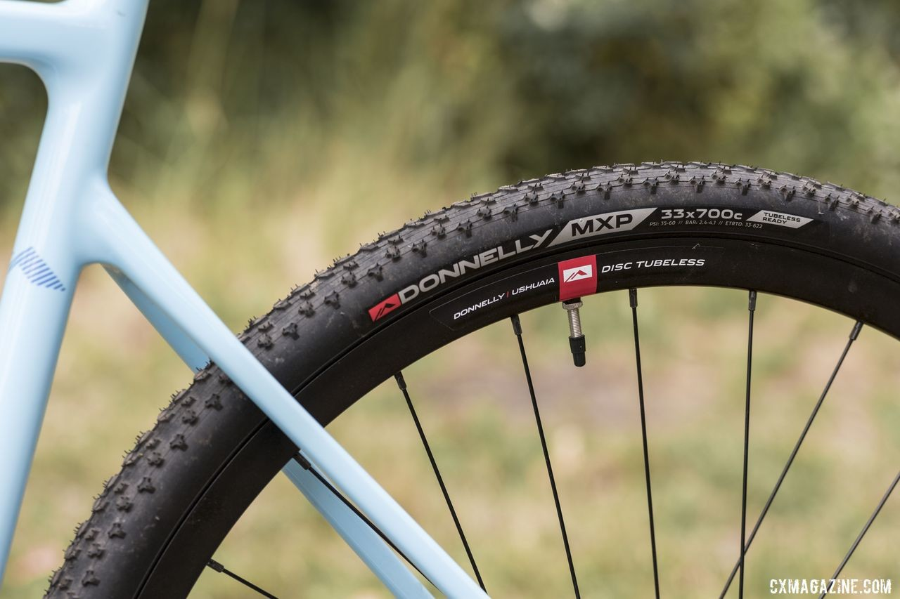 Not surprisingly, the C//C comes with Donnelly MXPs on Donnelly Ushuaia alloy tubeless clinchers. Donnelly C//C Force Cyclocross Bike. © C. Lee / Cyclocross Magazine
