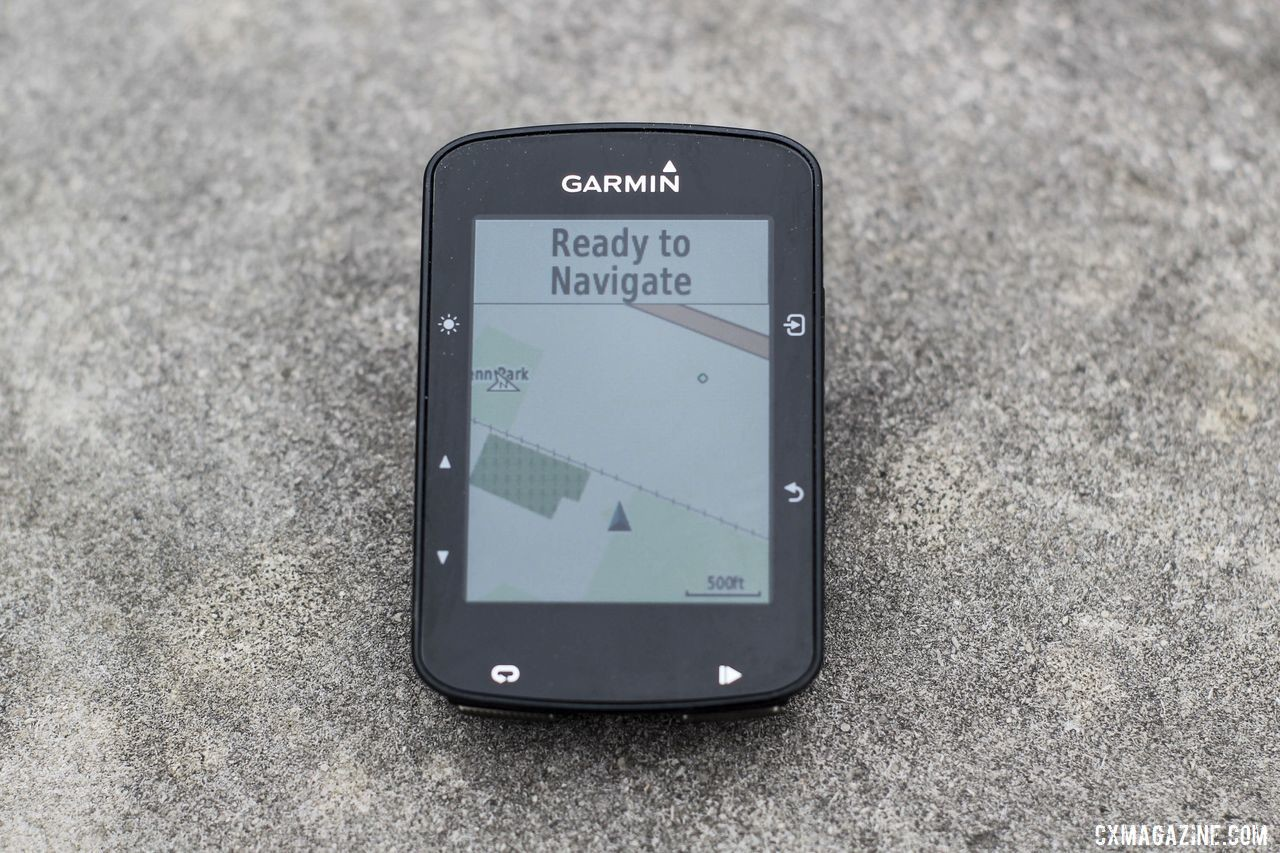 The default map detail setting lacks detail. Garmin Edge 520 Plus Cycling Computer. © Z. Schuster / Cyclocross Magazine