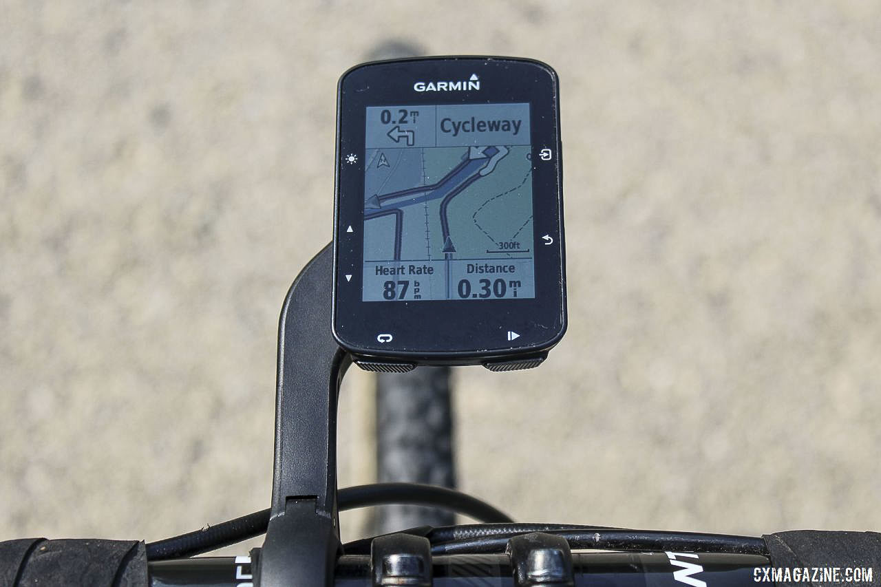 The Edge 520 Plus gives ample warning a turn is approaching. Garmin Edge 520 Plus Cycling Computer. © Z. Schuster / Cyclocross Magazine