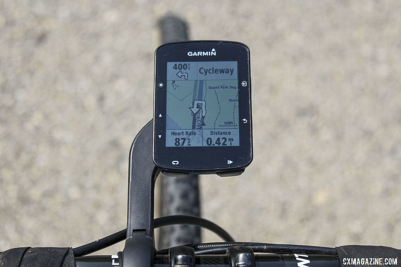 A big arrow lets you know which way to turn. Garmin Edge 520 Plus Cycling Computer. © Z. Schuster / Cyclocross Magazine