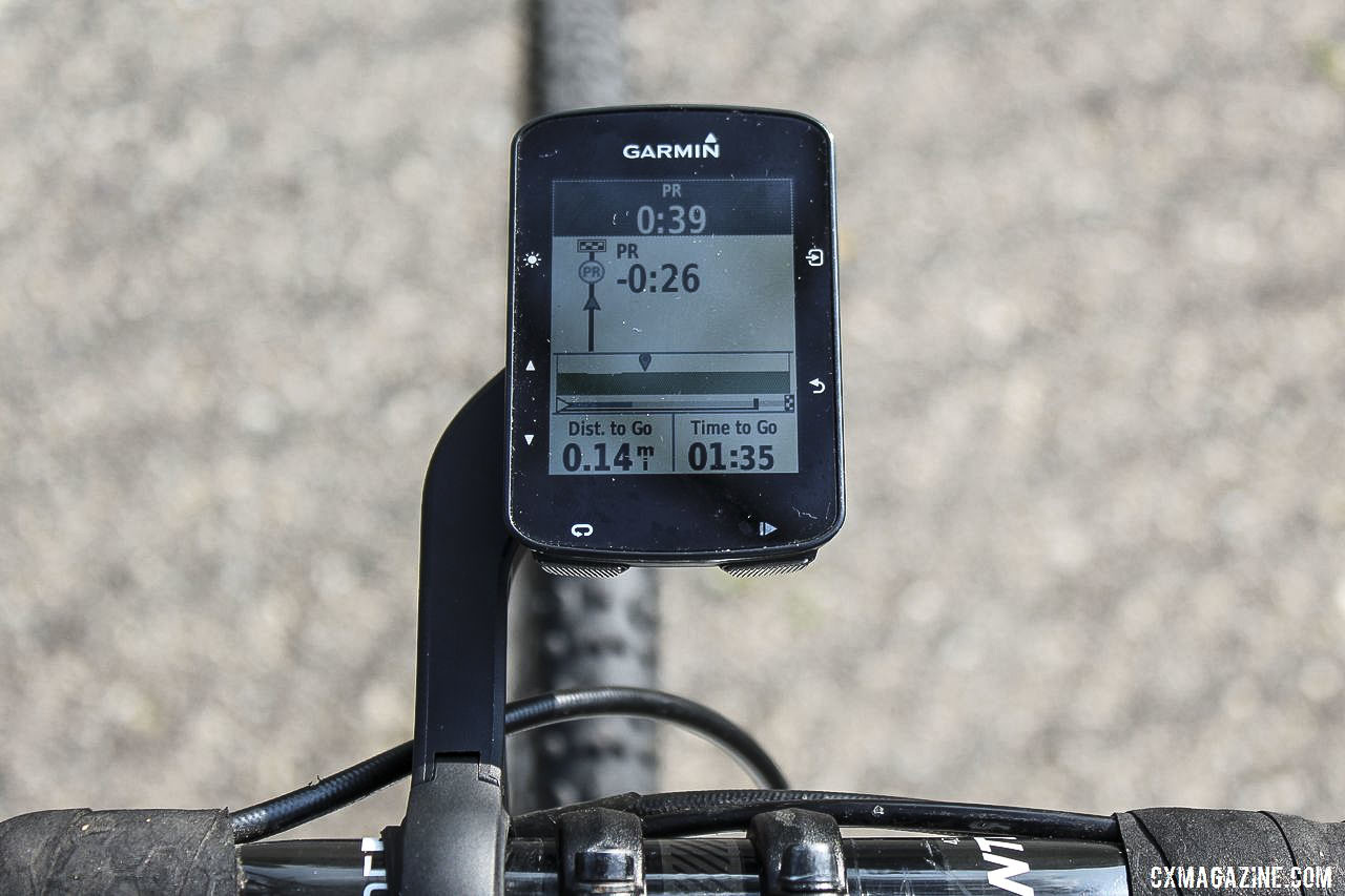 Strava Live segments let you know how you are doing in real time. Garmin Edge 520 Plus Cycling Computer. © Z. Schuster / Cyclocross Magazine