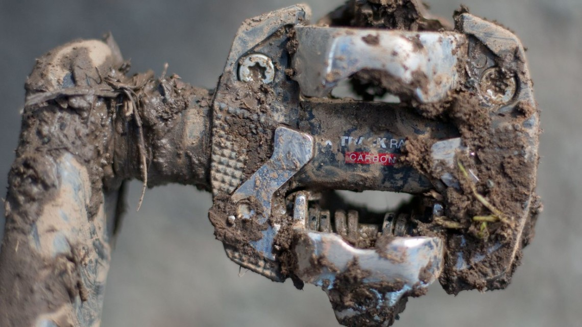 The Look X-Track Race pedals have performed well in the heaviest mud, in the USA, and under Wout van Aert, in Europe.