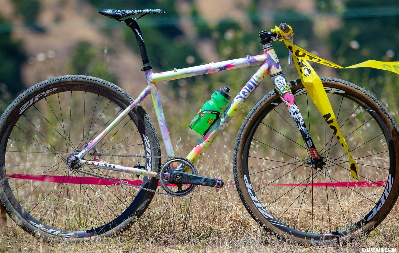 Sammi Runnel's 2019 Tracklocross Nationals Squid fixed gear cyclocross bike. © A. Yee / Cyclocross Magazine
