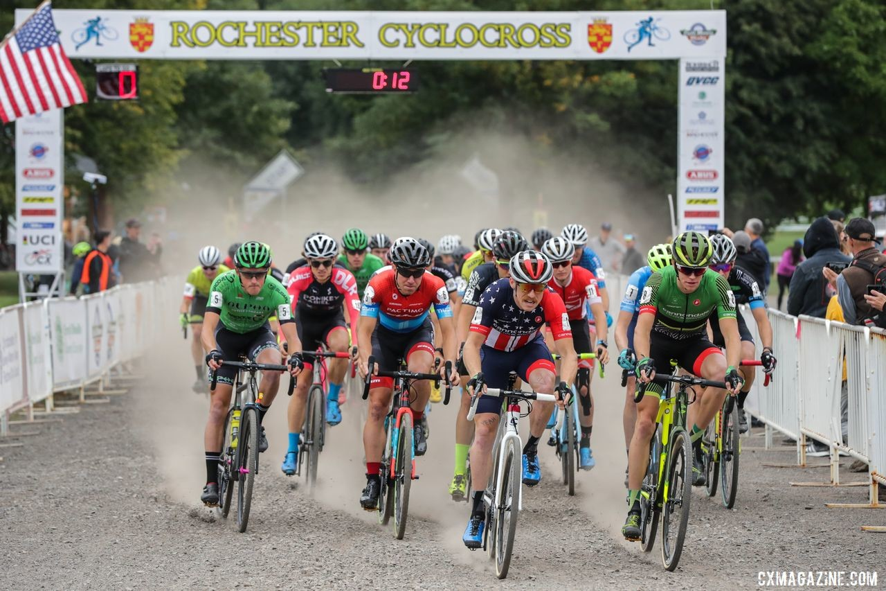 Rochester Cyclocross will be the first day of school for amateurs and pros alike. 2018 Rochester Cyclocross. © Bruce Buckley