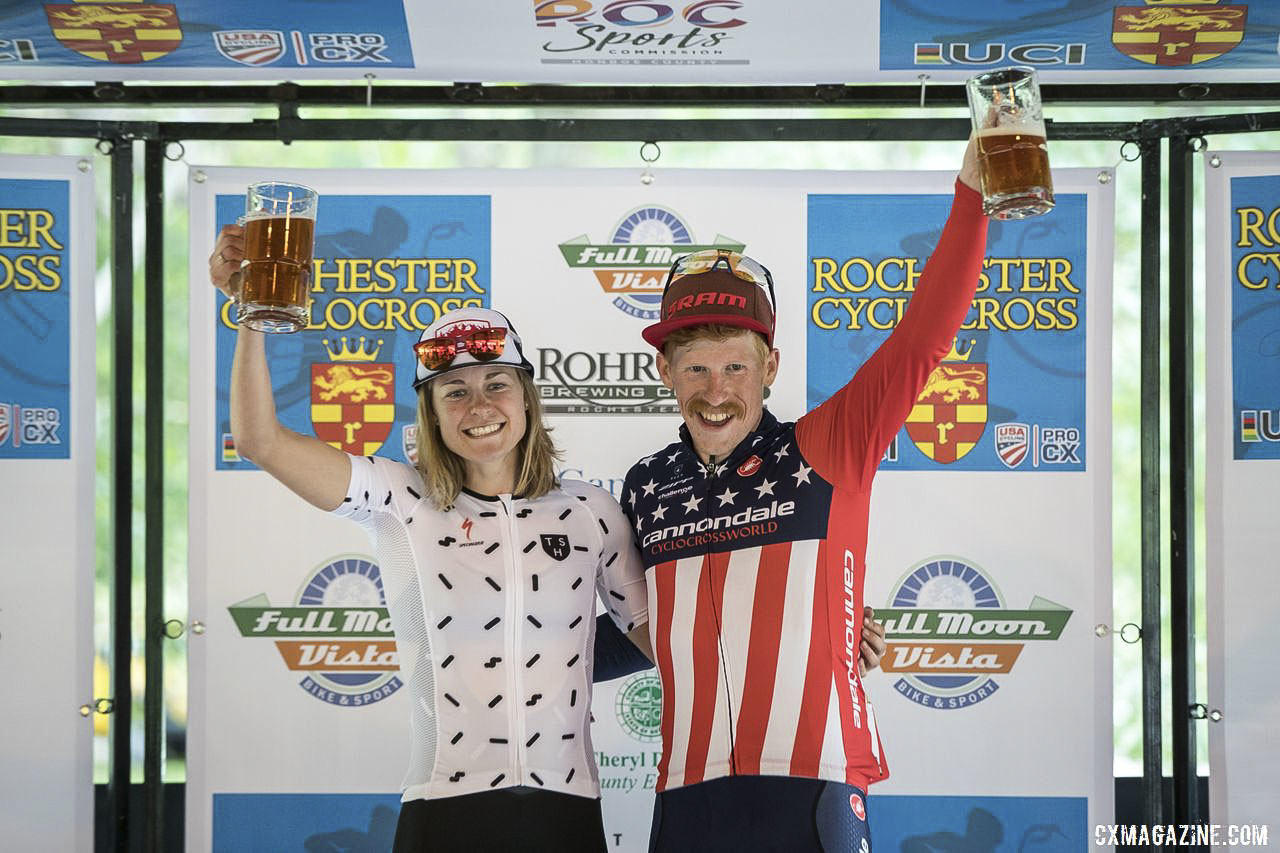 Cheers will be in order at the 2019 Rochester Cyclocross weekend. 2018 Rochester Cyclocross. © Bruce Buckley