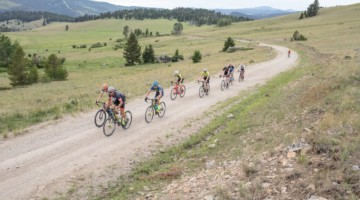 Riders grind up the Priest Pass KOM. 2019 Men's Montana Cross Camp. © Tom Robertson