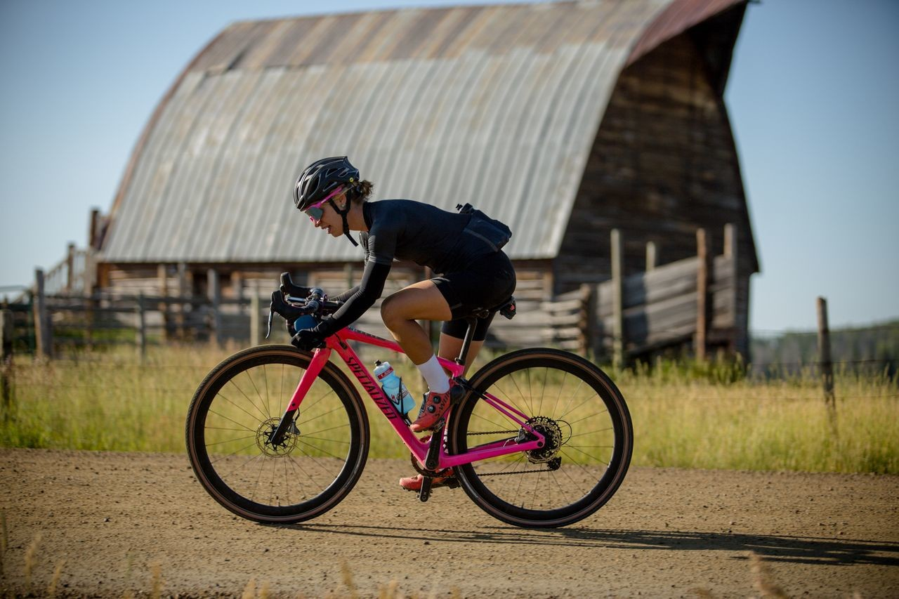 Women were well-represented at SBT GRVL. 2019 SBT GRVL gravel race. © Wil Matthews