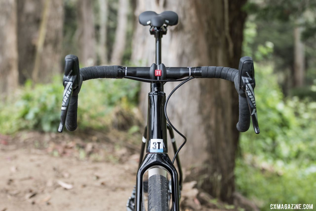 The front end provides quick steering. 3T Exploro Team Force Gravel Bike. © C. Lee / Cyclocross Magazine