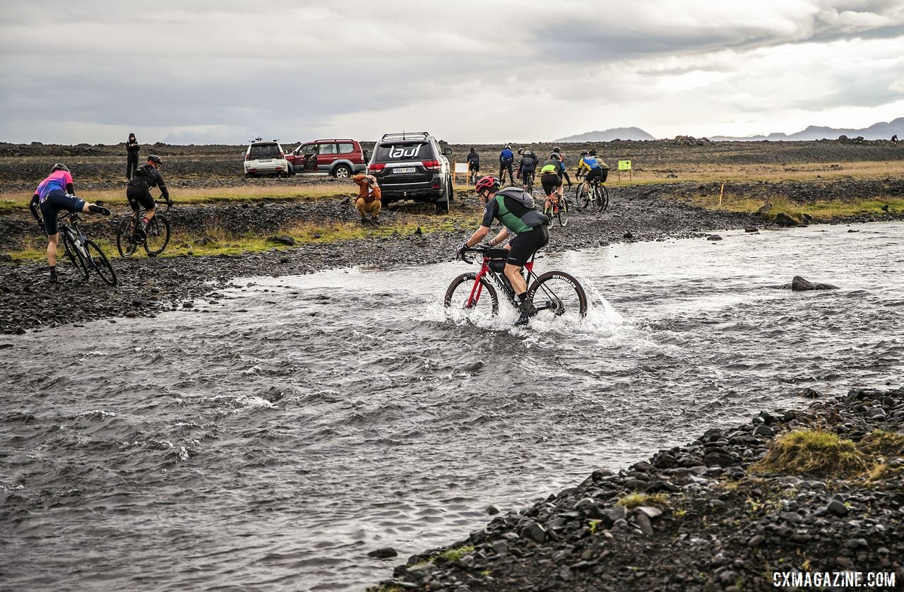 Some of the creek crossings were a bit turbulent. The Rift Gravel Race 2019, Iceland. © Snorri Thor / Lauf