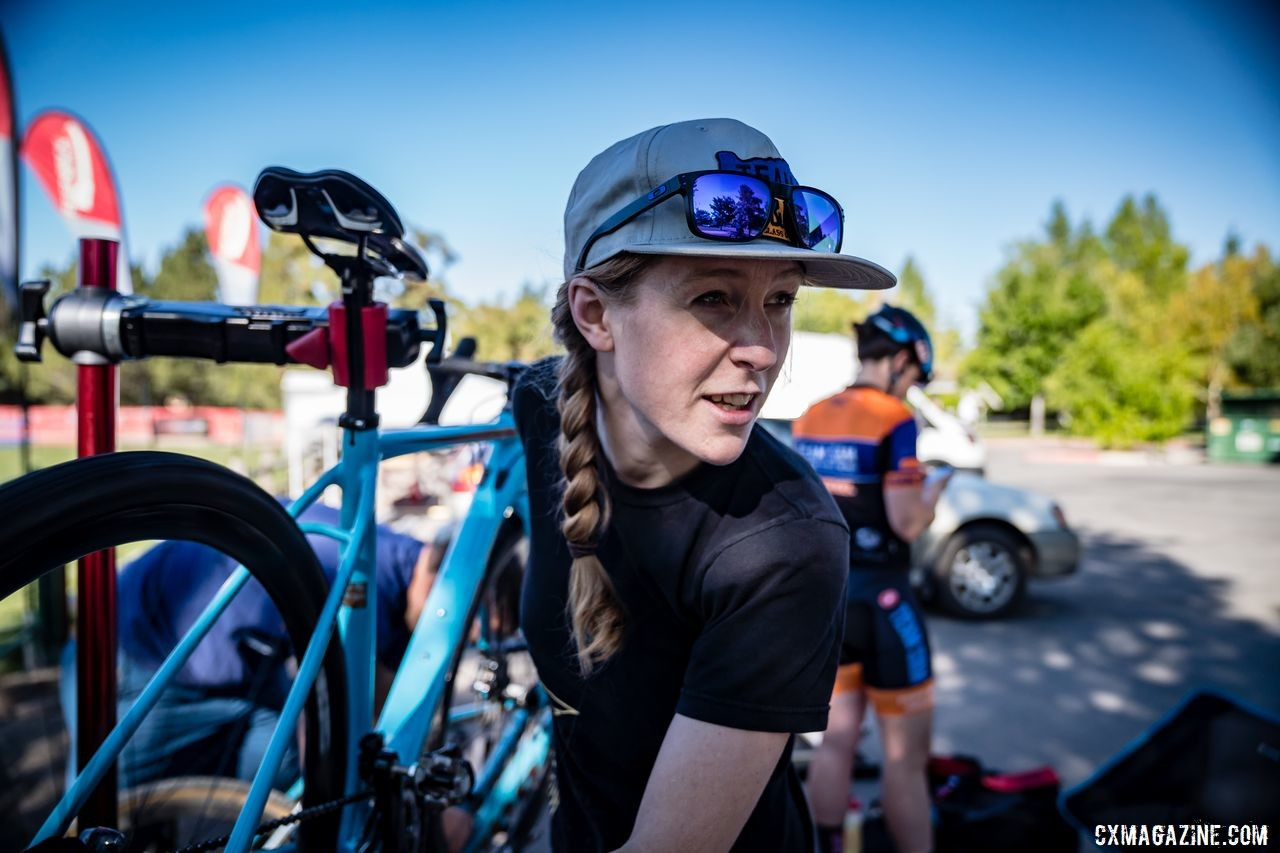 Brenna Wrye-Simpson has helped make the Team S&M CX Elite team what it is. © Drew Coleman