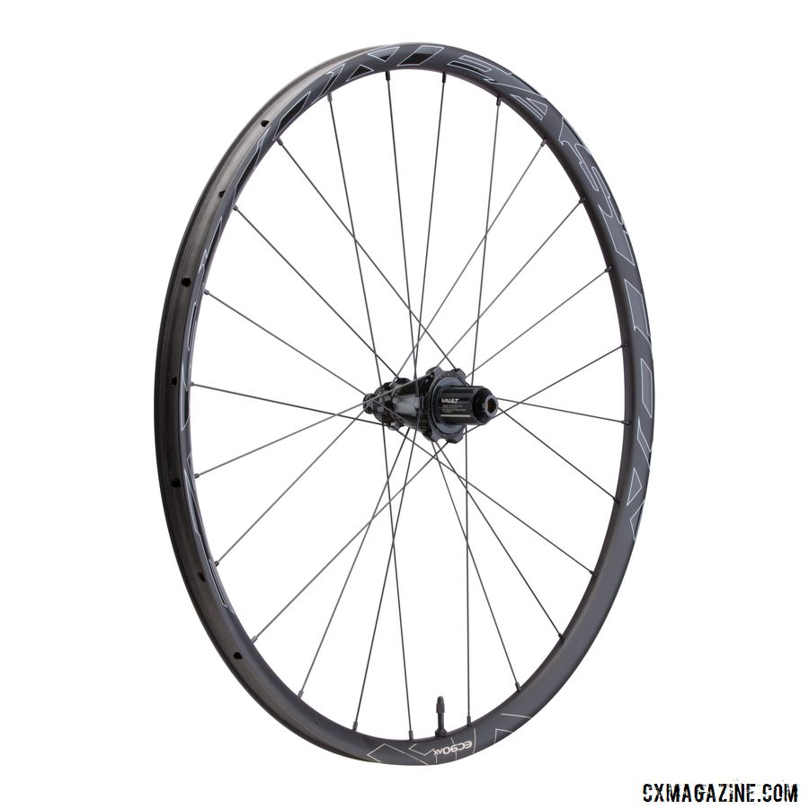 The new Easton EC90 AX adventure wheelset has a 24mm-wide carbon rim. © Easton Cycling