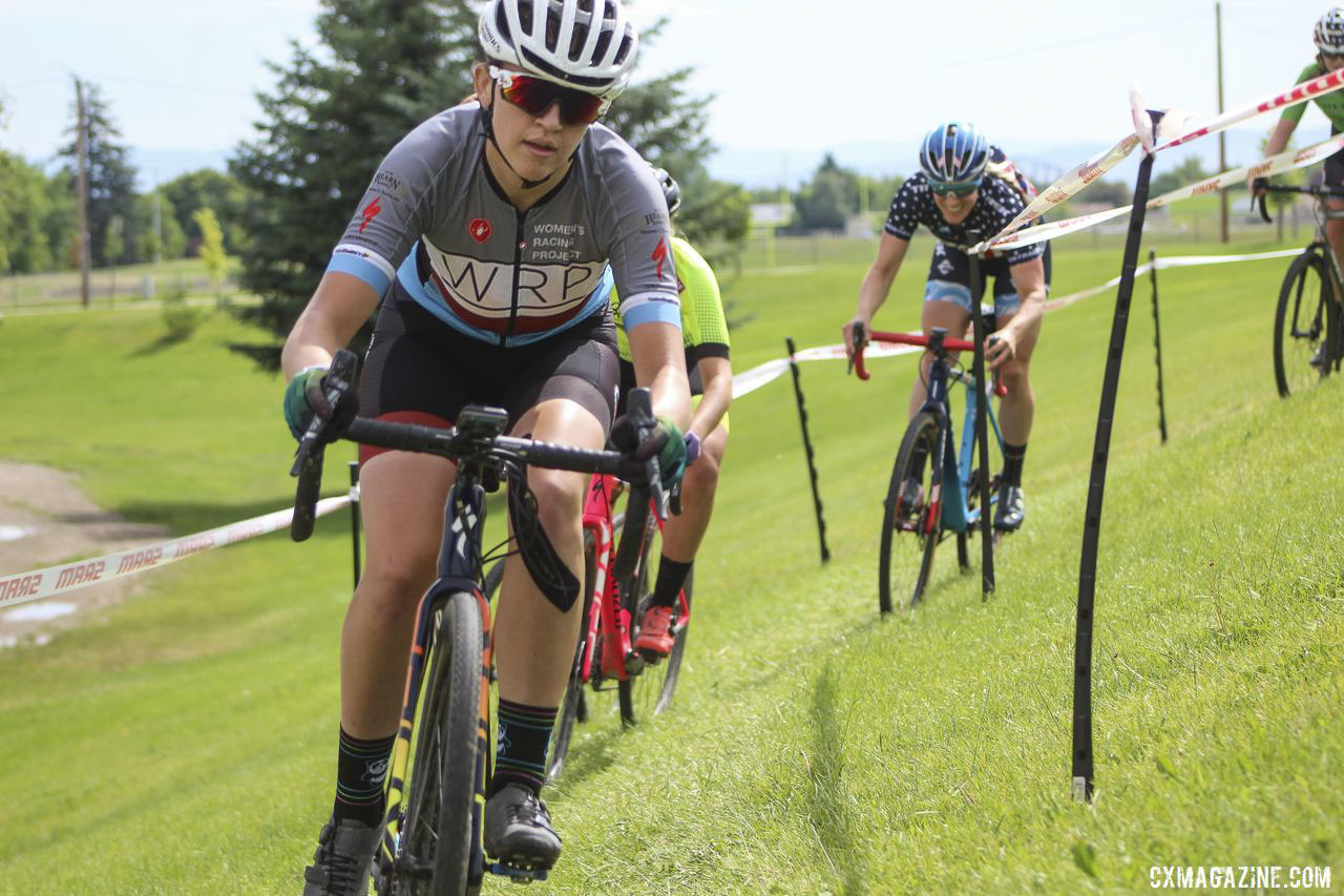 Getting to work with coaches such as Katie Compton was a special experience for Dyas in Montana. 2019 Women's MontanaCrossCamp. © Z. Schuster / Cyclocross Magazine