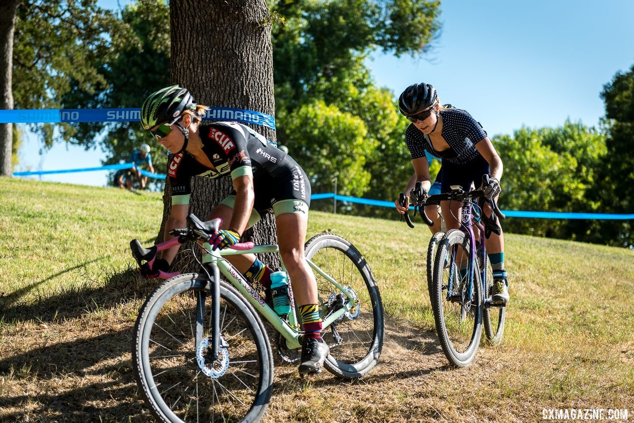 Caroline Nolan, Caitlin Bernstein and Anna Megale (partially hidden) went 1,2,3 in the overall for the weekend. 2019 West Coast Cyclocross Points Prestige. © Jeff Vander Stucken