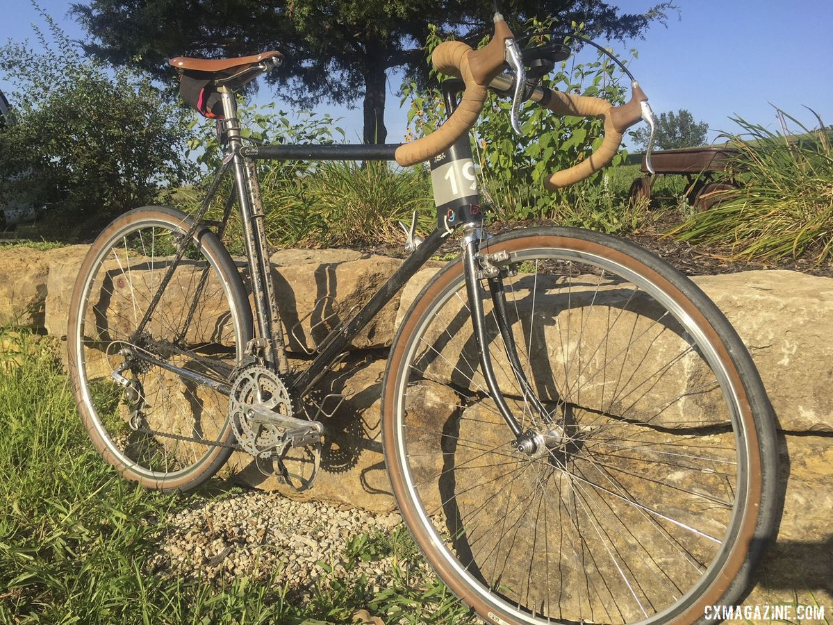 Greg Vaught's 2019 Gravel Worlds Vintage Sekai Magnum S7 Gravel Bike. © G. Vaught