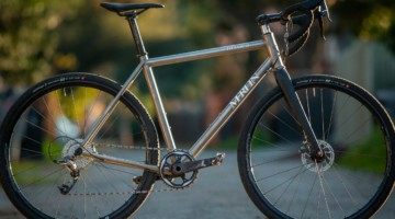 The made-in-Colorado Merlin Sandstone titanium gravel bike. © Cyclocross Magazine