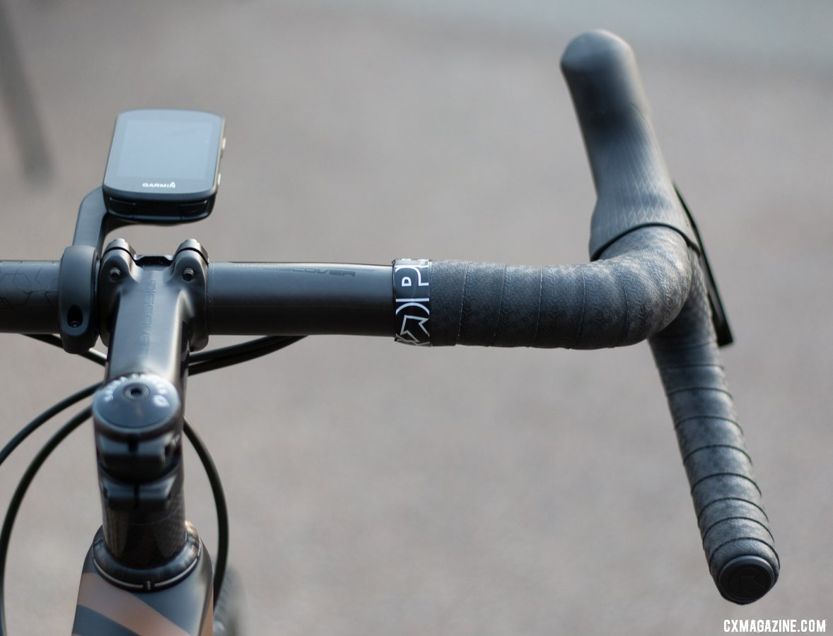 New PRO Discover carbon handlebar with 20 degree flare. © A. Yee / Cyclocross Magazine