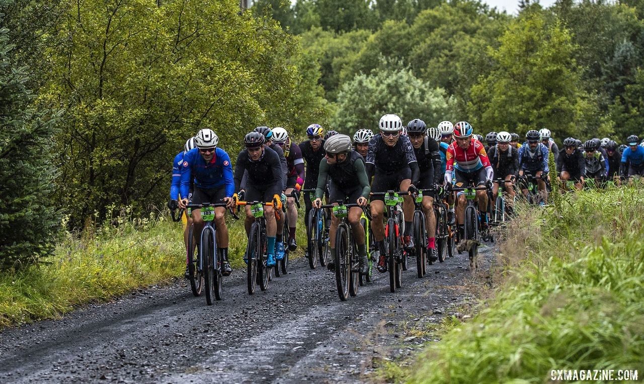 Riders chat early on in the race. The Rift Gravel Race 2019, Iceland. © Snorri Thor / Snorri Thor Photography