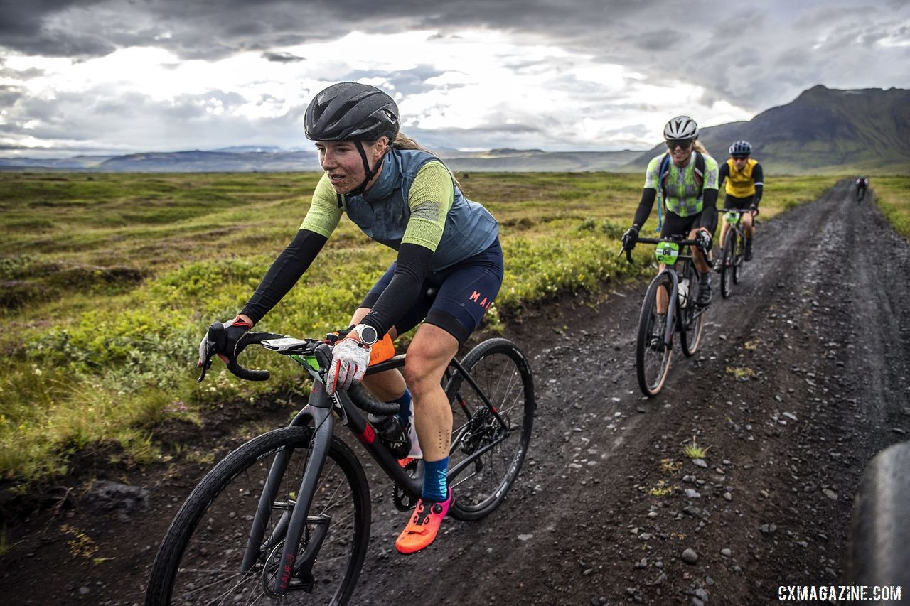 Having a Lauf Grit fork was likely helpful during The Rift. The Rift Gravel Race 2019, Iceland. © Snorri Thor / Lauf