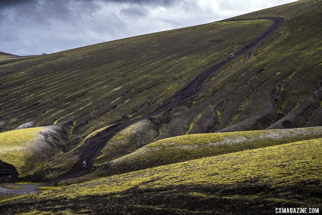 The Rift route featured plenty of climbing. The Rift Gravel Race 2019, Iceland. © Snorri Thor / Lauf
