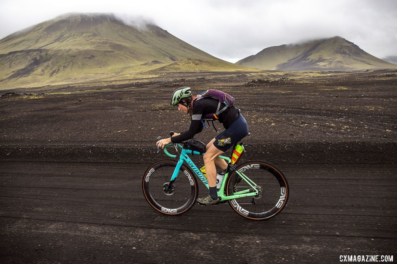 Dark volcanic roads and beautiful views were in store at The Rift. The Rift Gravel Race 2019, Iceland. © Snorri Thor / Lauf