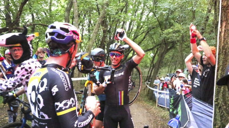 Sven Nys enjoyed his Legends Race experience. 2019 Trek CX Cup. © D. Mable / Cyclocross Magazine