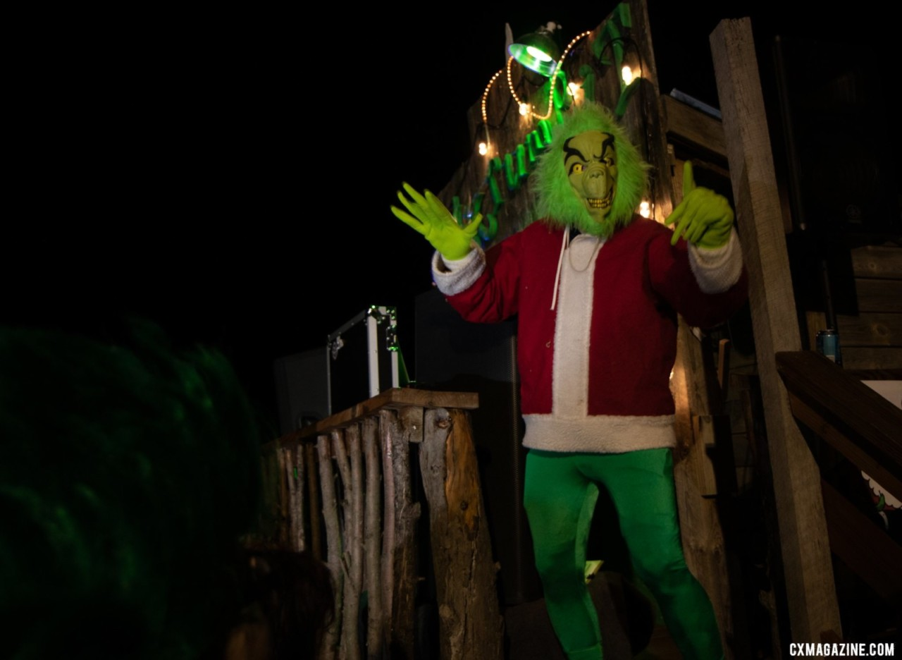 We found the Grinch at home on Mt. Krumpit. 2019 Jingle Cross. © A. Yee / Cyclocross Magazine