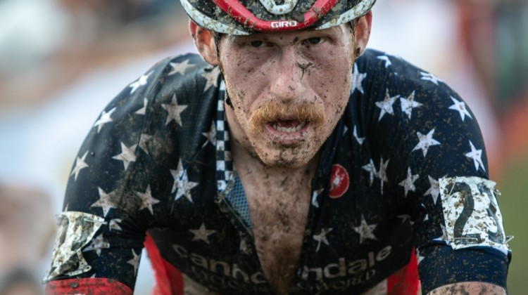 After dropping out of the World Cup due to back issues, Hyde bounced back to finish 12th on Sunday. 2019 Jingle Cross. © A. Yee / Cyclocross Magazine