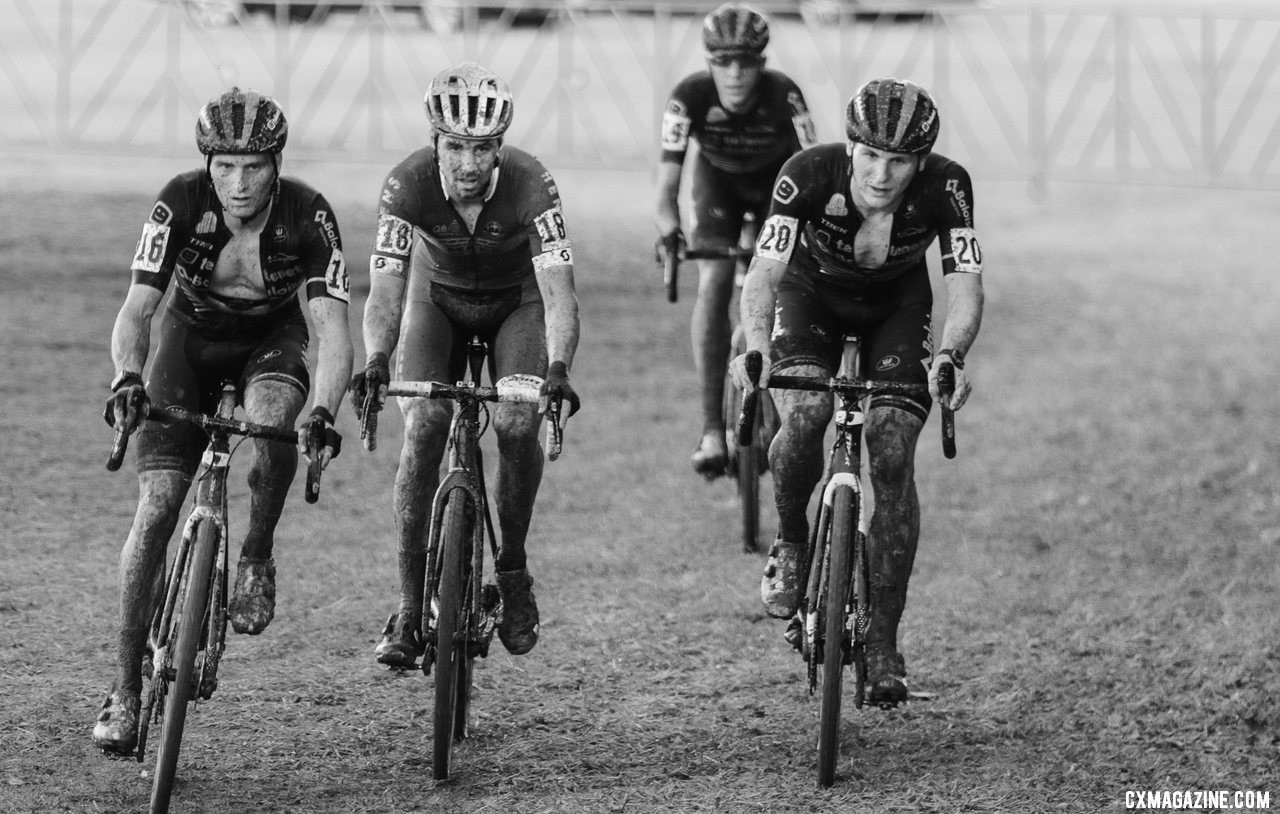 The leaders two laps in. 2019 Jingle Cross Sunday UCI C1, Elite Men. © D. Mable / Cyclocross Magazine