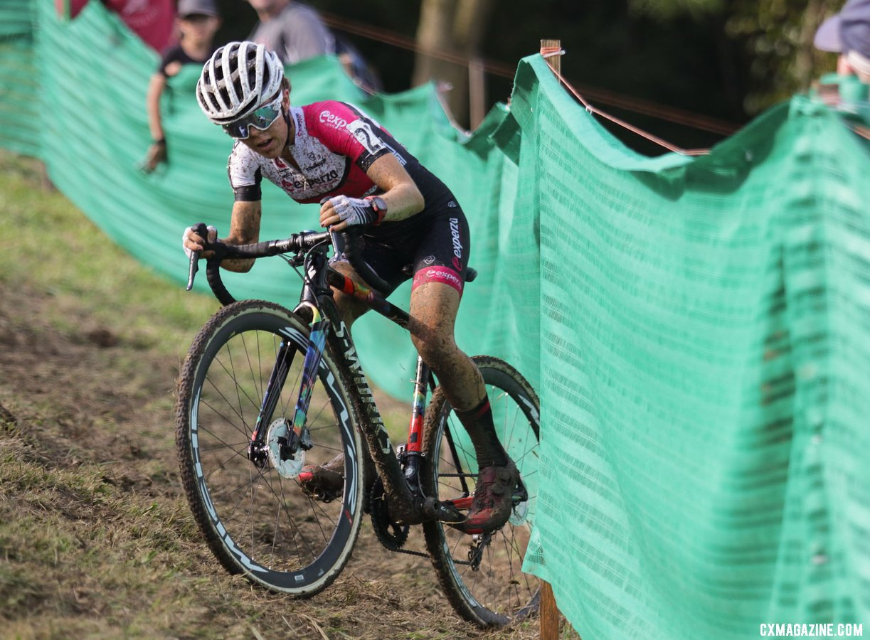 Anna Kay had a strong ride on Day 3 of Jingle Cross. 2019 Jingle Cross Sunday UCI C1, Elite Women. © D. Mable / Cyclocross Magazine