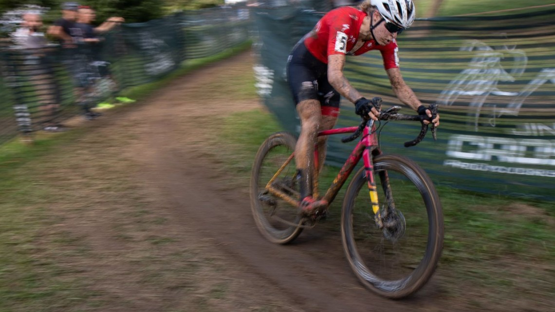 Rochette in command. 2019 Jingle Cross Sunday UCI C1, Elite Women. © A. Yee / Cyclocross Magazine