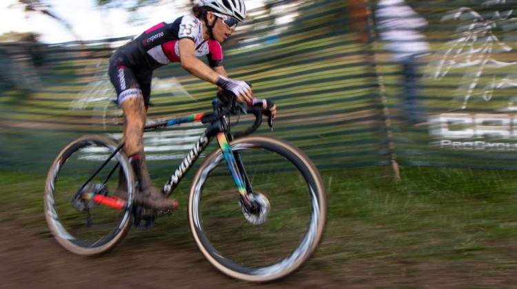 Anna Kay had a strong ride as top U23, and finished fourth. 2019 Jingle Cross Sunday UCI C1, Elite Women. © A. Yee / Cyclocross Magazine