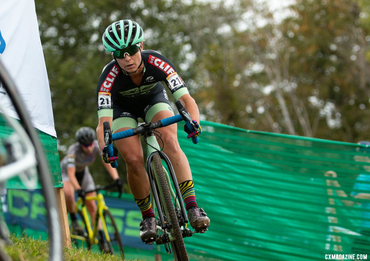 Caroline Nolan raced her first UCI Cyclocross World Cup and finished 28th. 2019 Jingle Cross. © A. Yee / Cyclocross Magazine