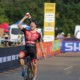 Laurens Sweeck cools down after a hot 2019 Trek CX Cup win. © D. Mable / Cyclocross Magazine
