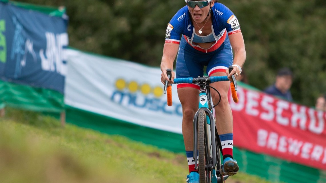 Mani raced to eighth. 2019 Jingle Cross World Cup. Elite Women. © A. Yee / Cyclocross Magazine