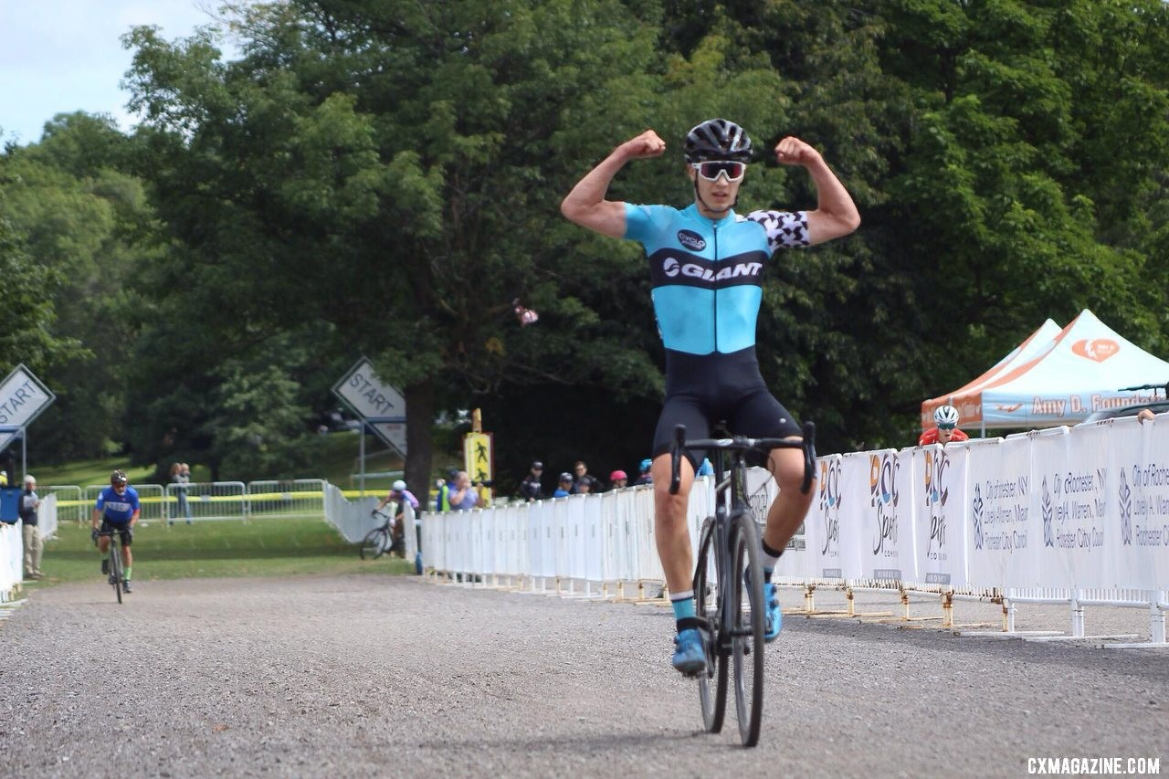 Tobias Lund Andresen makes it two in a row. 2019 Rochester Cyclocross Day 2, Junior Men. © Z. Schuster / Cyclocross Magazine