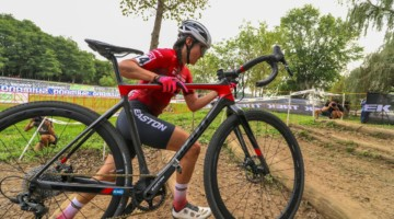 Jenn Jackson finished started strong and finished 6th. Elite Women, 2019 Trek CX Cup. © D. Mable / Cyclocross Magazine
