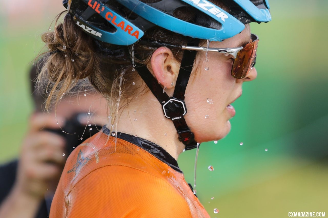 Clara Honsinger finished second on Friday. Elite Women, 2019 Trek CX Cup. © D. Mable / Cyclocross Magazine